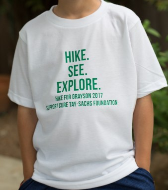 Hike for Grayson t-shirt front